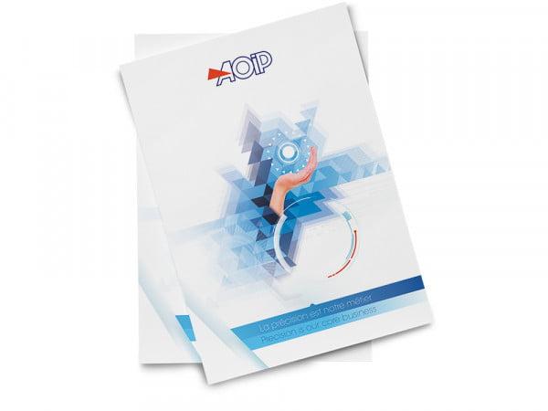 Plaquette commerciale, agence de communication Essonne
